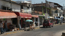 Mexico street scene traffic HD Footage