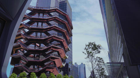 The Vessel - Public structure and landmark, built as part of the Hudson Yards in New York City Live Action
