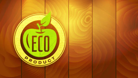 sustainable eco product with recycled component on selling symbol for clean vegan ecological and Animation
