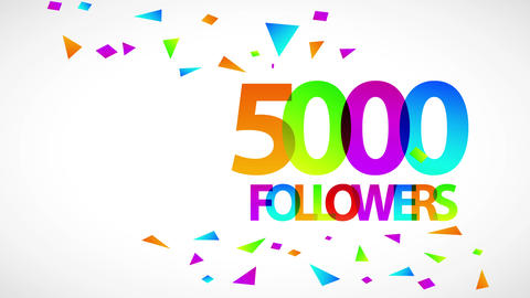 5000 followers ceremony ad for organization search and browsing top on social media and rest of net Animation