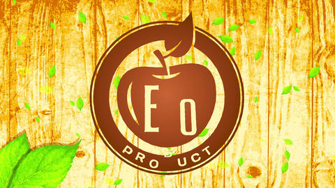 trendy eco vegan food product corporate identification thinking manipulation pyrography process Animation