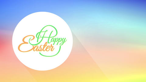 holiday festival event cardboard for laughing easter with centereds cursive writing on soft spring Animation