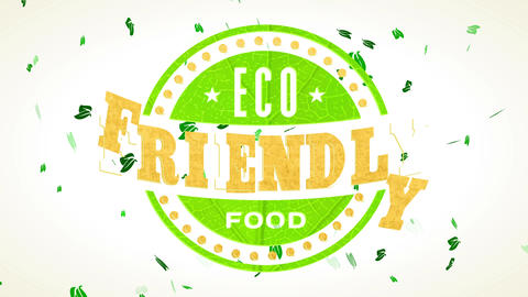 eco friendly nurture mark for healthful farmers trade businesses handling green leaf and recycled Animation