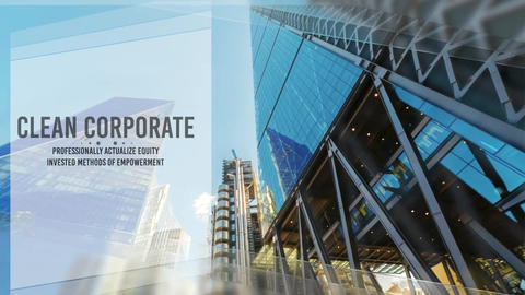 Corporate Clean Intro Slideshow Apple Motion Template