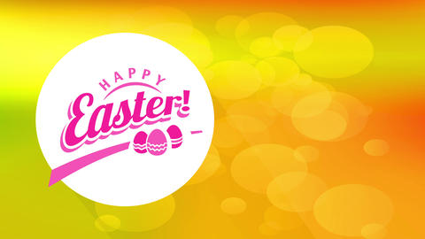 eggshell pursuit carnival announcement with script satisfied easter on centered white curve creating Animation