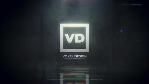 Glitch Dissolve Logo Reveal After Effects Template