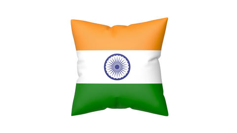 Pillow with the flag of India Animation
