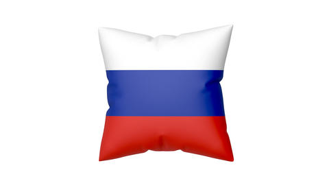 Pillow with the flag of Russia Animation