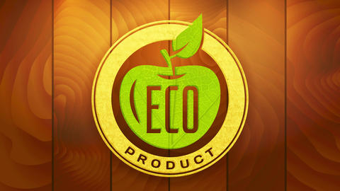sustainable eco product with recycled elements on marketing icon for clean vegan ecological and Animation