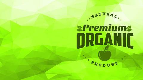 parcel cover way for fancy natural harvest good selling organic green apples with trendy typeface on Animation