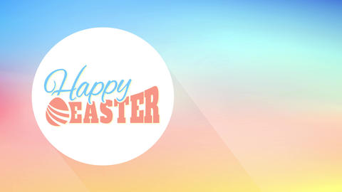satisfied easter card for surprise eggshell hunt party with aged fashioned typography on gradient Animation
