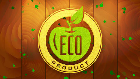 sustainable eco product with recycled part on promotion symbol for clean vegan ecological and Animation