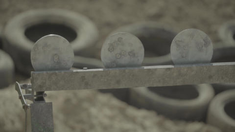 Iron targets during the shooting Live Action