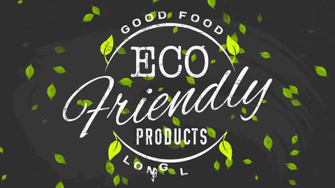 minimalist eco kind products advert for okay healthy life prolonging nourishment with writing on a Animation