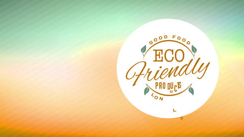 okay eco kind nourishment company supporting local farm products with minimalist symbol and Animation
