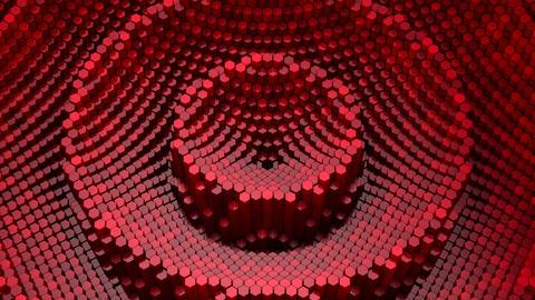 Hexagons Form A Wave CG動画
