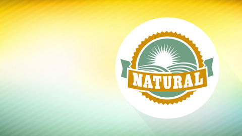 natural food publicity for specific environmentally friendly good with rounded print with plush Animation