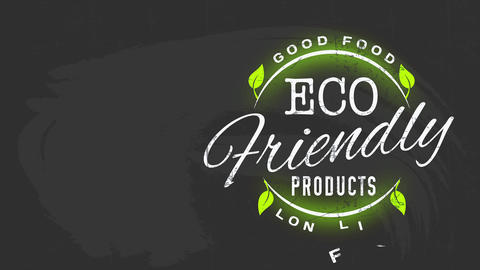 minimalist eco kind good promotion for artistic healthy life prolonging nutrient with font on a Animation