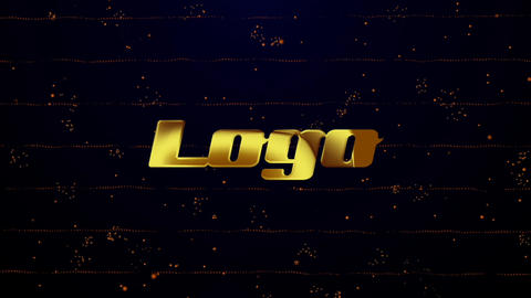 Gold Logo Reveal (Particles Intro) Apple Motion Template