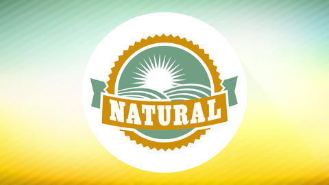 natural food publicity for specific environmentally friendly products with rounded print with soft Animation