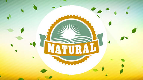 natural food publicity for exact environmentally friendly good with rounded imprint with plush Animation