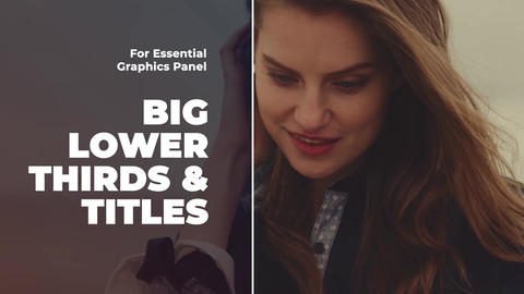 Big Titles & Lower Thirds II Premiere Pro (MOGRT) Motion Graphics Template