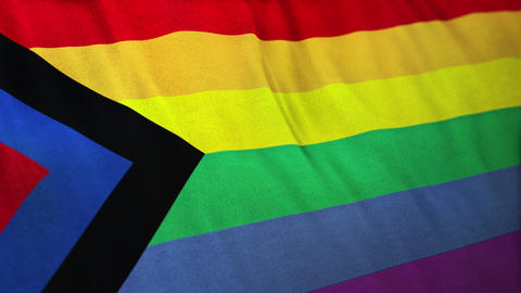 Seamlessly looping Social Justice Pride flag Animation