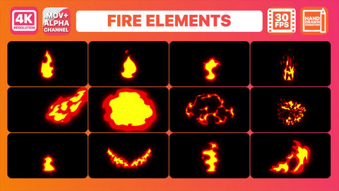 Fire Elements And Transitions Pack CG動画