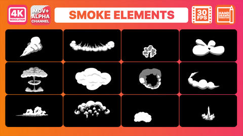 2DFX Smoke Elements And Transitions Pack Animation