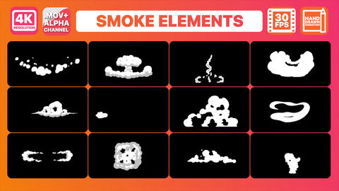 Smoke Elements Pack Animation