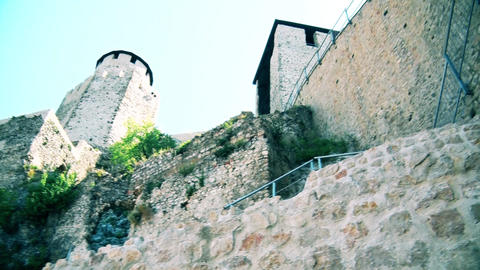 the exterior of the dome and walls of the old city GIF