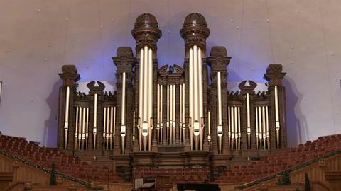 Mormon Tabernacle famous historic organ choir seats HD 0311 Footage