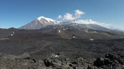 Beautiful volcanic landscape of Kamchatka Peninsula (time lapse) Footage