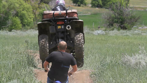 Motorcycle and ATV track P HD 0857 Live Action