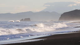 Pacific Coast of Kamchatka Peninsula Footage
