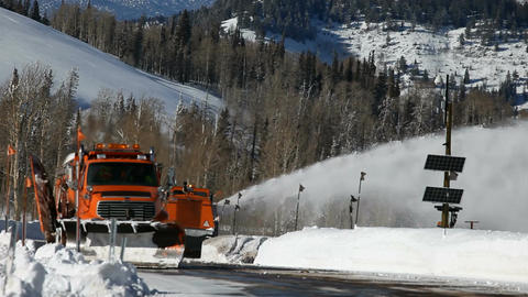 Mountain road winter snow plow P HD 6341 Live Action