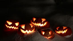 Halloween pumpkins having fun Footage