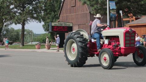 Old antique farm tractors rural parade HD 8535 Footage