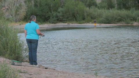 Pam fishing pond P HD 1768 Footage