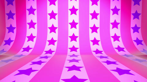 3D Curved Wall & Cross Move Star(Pink Purple) Animation