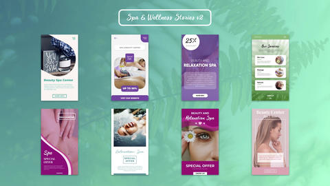Spa & Wellness Stories v2 After Effects Template