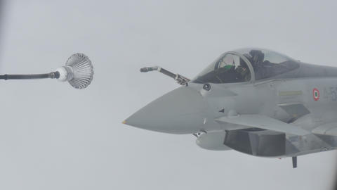 Military Aircraft in Flight Refueling Live Action