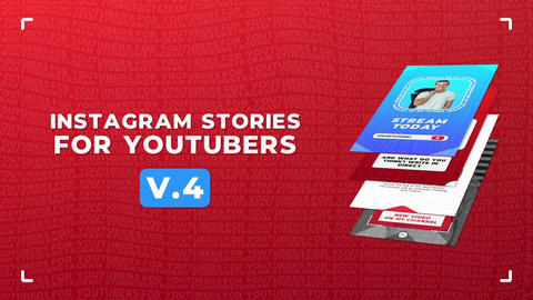 Instagram Stories For YouTubers v 4 After Effects Template