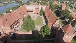 View at Malbork castle from above Acción en vivo