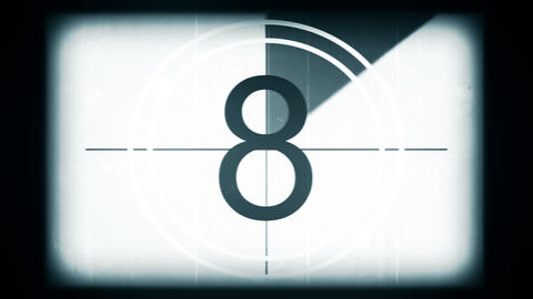 Film Leader Countdown Clock Animation