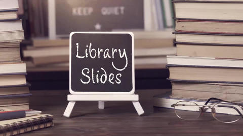 Books and Library Slides After Effects Template