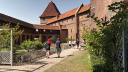 Castle of the Teutonic Order in Malbork. Southern Terrace - Rose Garden Live Action