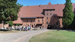 Teutonic order castle in Malbork. The courtyard of Middle castle Live Action