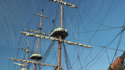 Old, wooden, sailing ship Live Action
