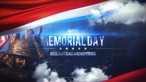 Memorial Day Title After Effects Template